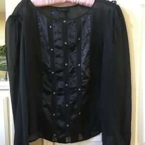 Silk and satin blouse size Small